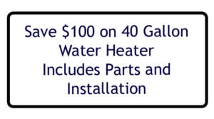 $100 off Water Heater