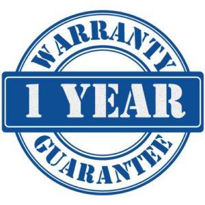 1 Year Guaranteed Warranty