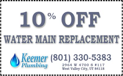 10% Off Water Main Replacement