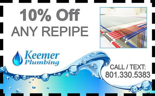 Provo Plumber Repipe Coupon From Keemer Plumbing LLC