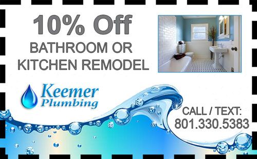 Bathroom Kitchen Remodel Coupon Keemer Plumbing Utah  LLC