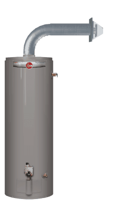 gas water heater with flu